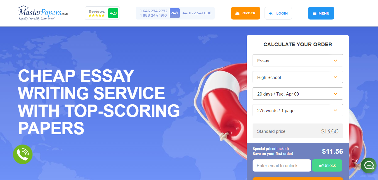 Online Essay Writing Service | Master Papers